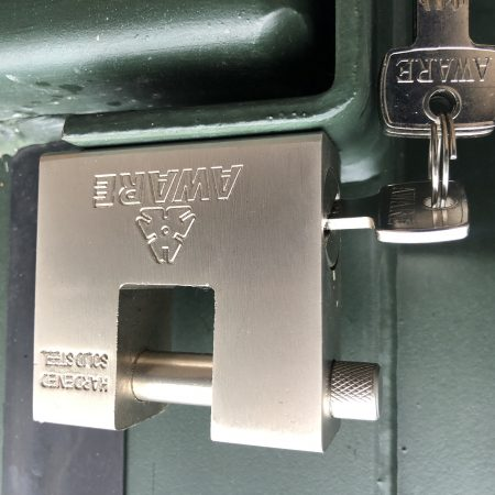 high security container padlock